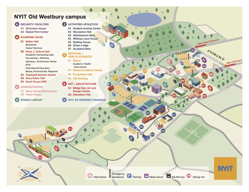 NYIT Campus Map